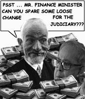 No funds for the judiciary