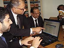 Members browsing their favourite web site
