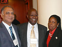 Shri. Vimal Gandhi with Mr. Michael Waweru, Commissioner General of Kenyan Revenue Authority and Ms. Sabina Walcott Denny, Head of Inland Revnue, Barbodas