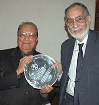 Senior Advocates Dr. Y. P. Trivedi and Mr. S. E. Dastur during a function to felicitate them for 50 years of practice