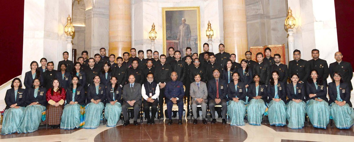 IRS Officers with President Kovind